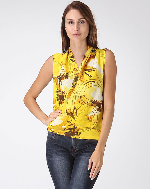 Abstract Floral Top - orangeshine.com