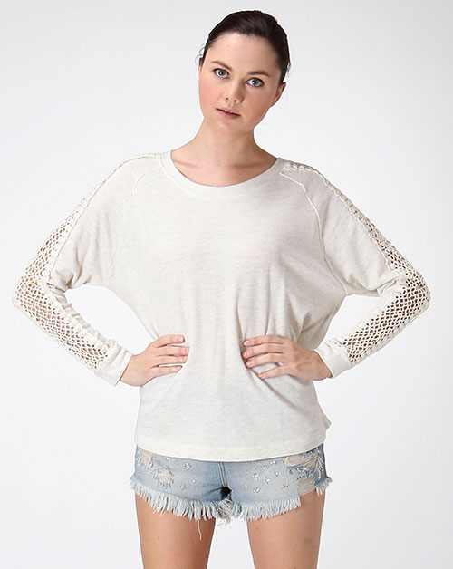 SLEEVE CROCHET TOP - orangeshine.com