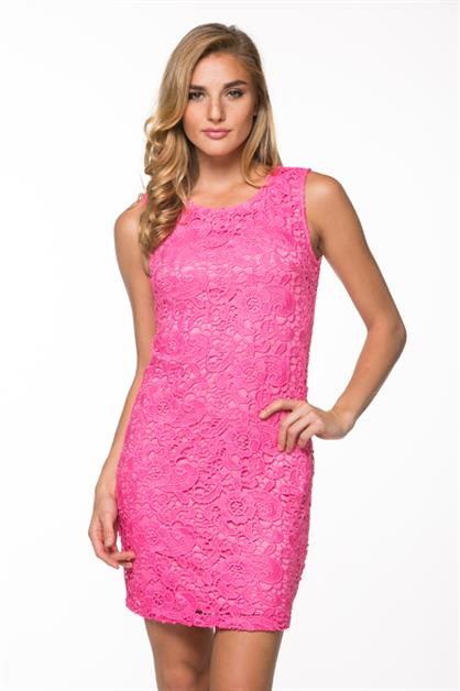 Lovely Lace Bodycon Dress - orangeshine.com