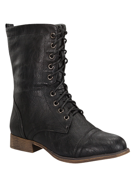 LACED ANKLE BOOTS - orangeshine.com