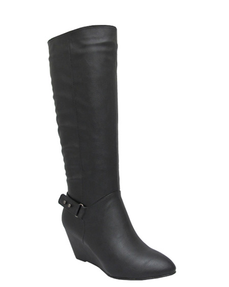 ANKLE BUCKLE WEDGE BOOT - orangeshine.com