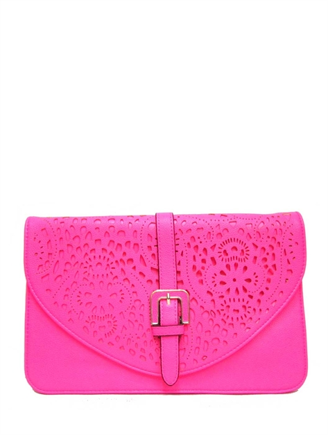 Cut-Outs Buckle Clutch - orangeshine.com