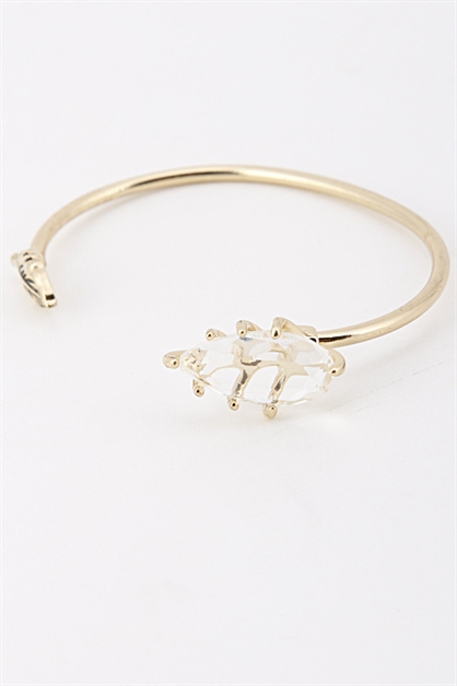 TEARDROP BEAD LEAF END CUFF - orangeshine.com