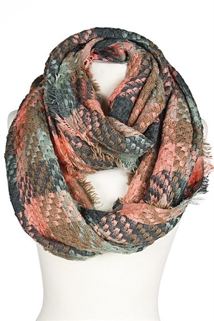 MIXED COLOR VINTAGE SCARF - orangeshine.com