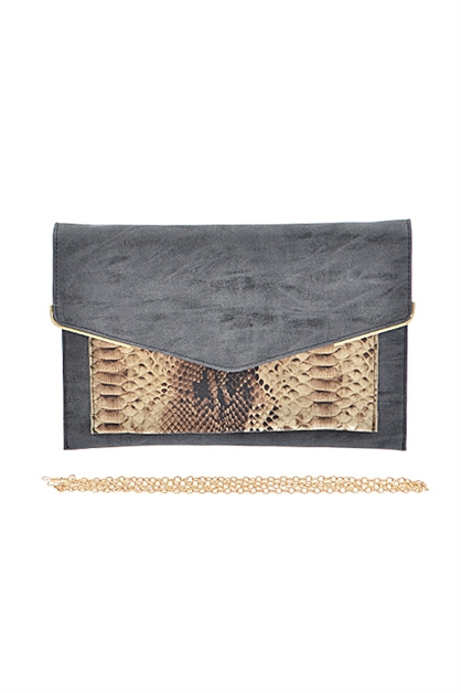 PART SNAKE SKIN CLUTCH - orangeshine.com