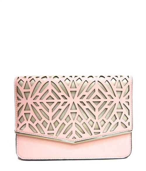 Cut-Outs Flap Clutch - orangeshine.com