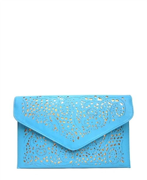 Laser Cut Envelope Clutch - orangeshine.com