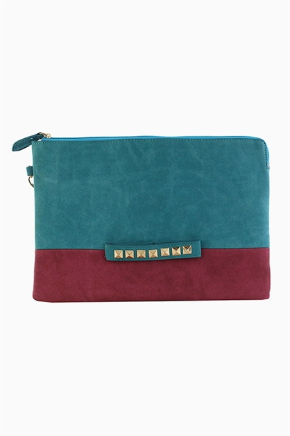 TWO TONED COLOR CLUTCH - orangeshine.com
