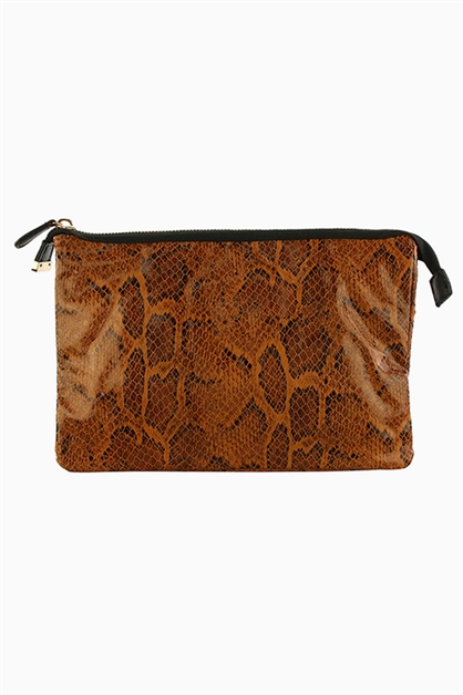 FAUX PYTHON CLUTCH / CROSSBODY - orangeshine.com