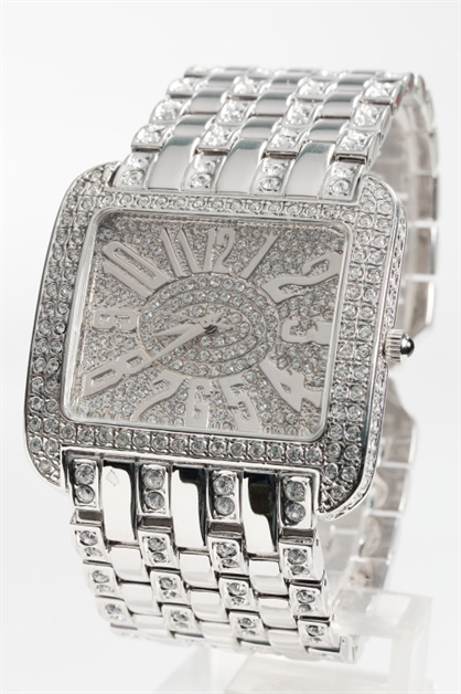 Crystal Encursted Watch - orangeshine.com