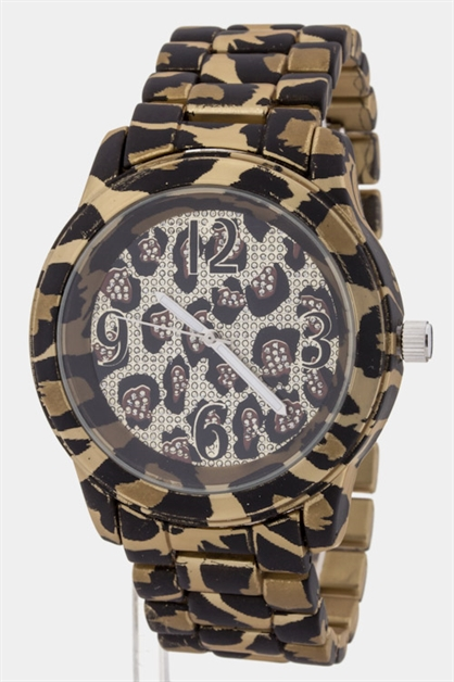 Leopard Printed Watch - orangeshine.com