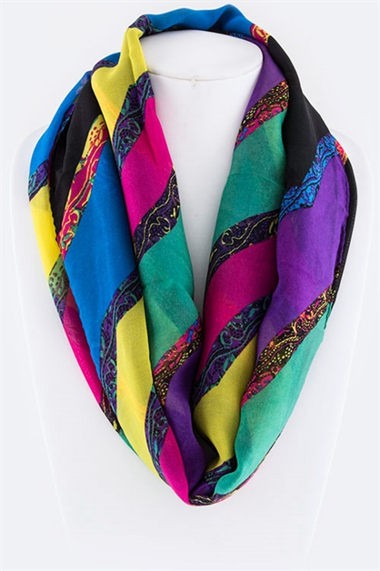 Abstract Mix Print Scarve - orangeshine.com