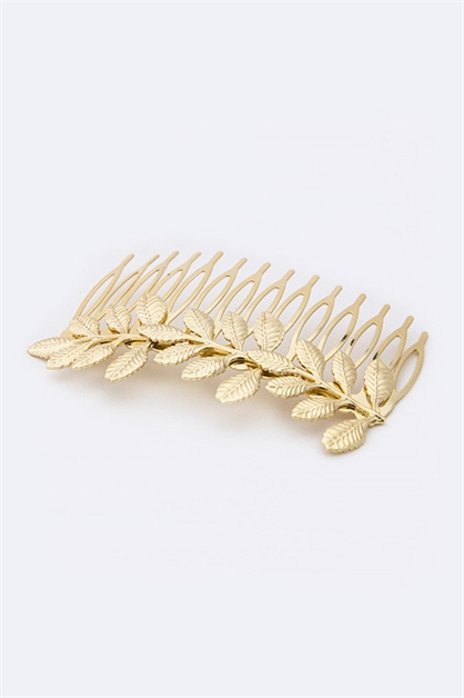 Metal Leaf Fashion Comb - orangeshine.com
