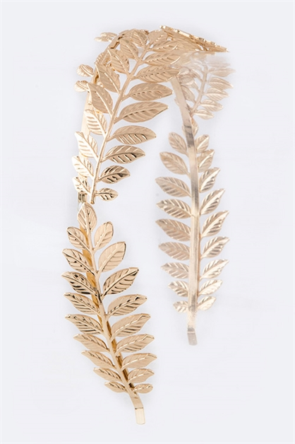 Metal Leaf Iconic Headband - orangeshine.com