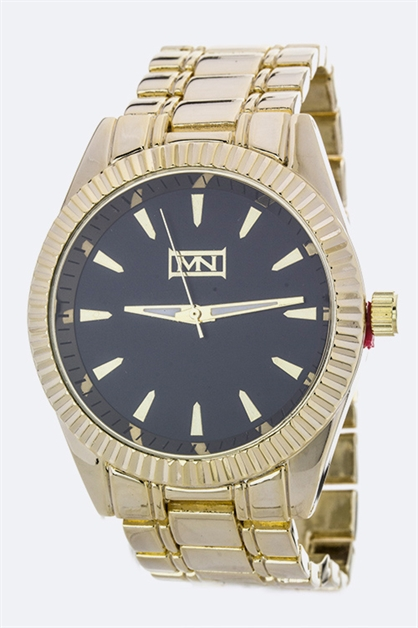 Unisex Notch Bezel Watch - orangeshine.com