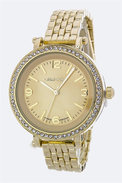 Crystal Bezel Fashion Watch - orangeshine.com