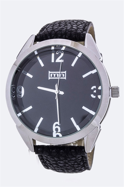 Unisex Leather Band Watch - orangeshine.com