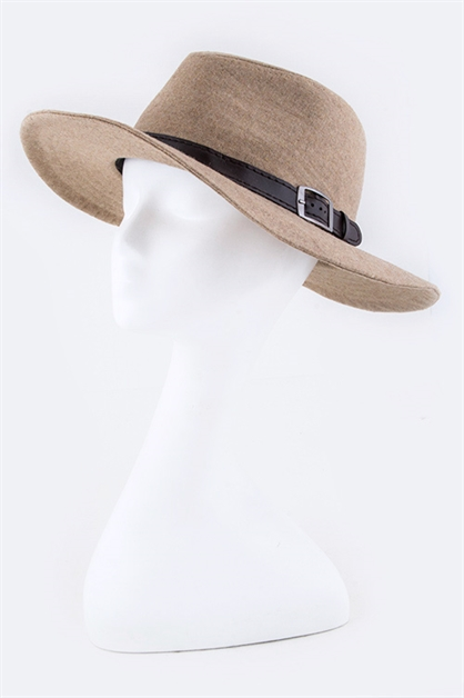 Belt and Buckle Brim Fedora - orangeshine.com