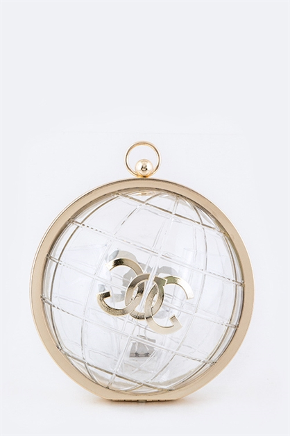 Iconic Clear Globe Clutch - orangeshine.com