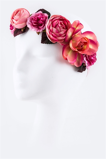 Mix Flowers Stretch Headband - orangeshine.com