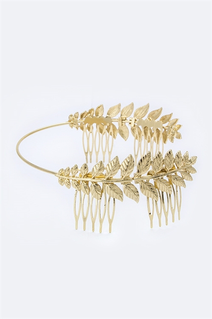 Metal Leaf Crown Headband - orangeshine.com