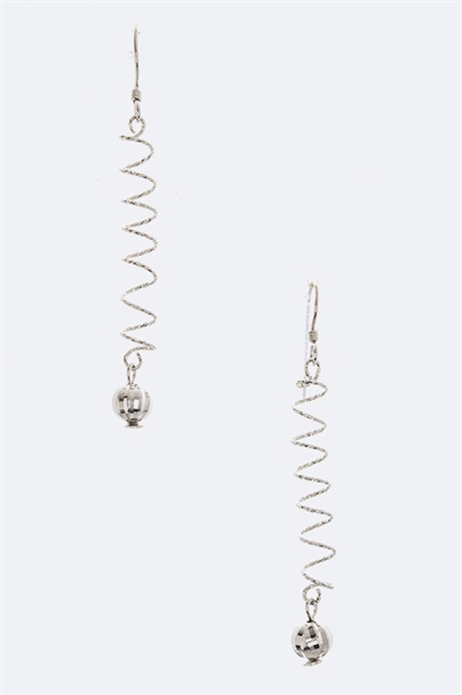 Silver Metallic Ball Earrings - orangeshine.com