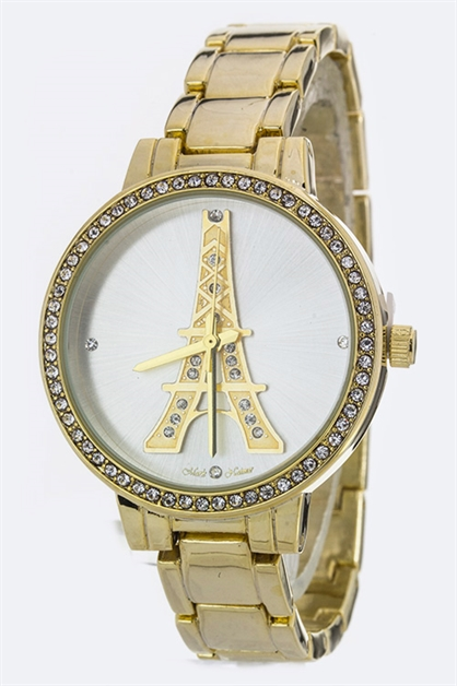 Crystal Eiffel Tower Watch - orangeshine.com
