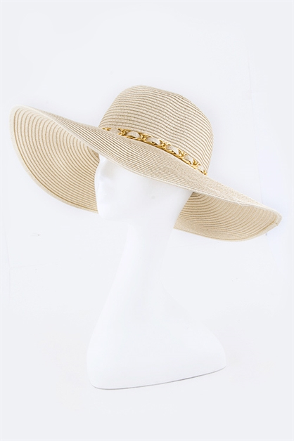 Laced Chain Fashion Straw Hat - orangeshine.com