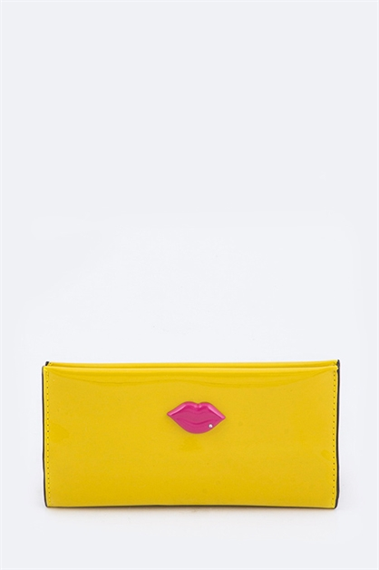 Pink Lips Iconic Wallet - orangeshine.com