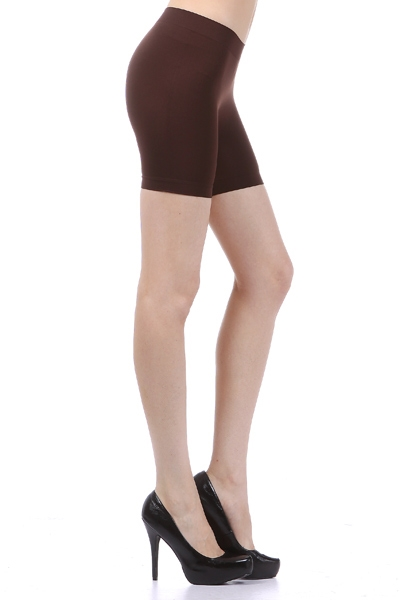 Mid-thigh stretchy shorts - orangeshine.com