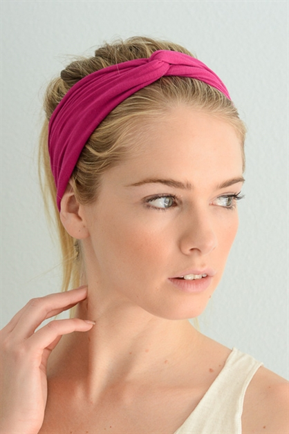Solid Color Twist Headband - orangeshine.com
