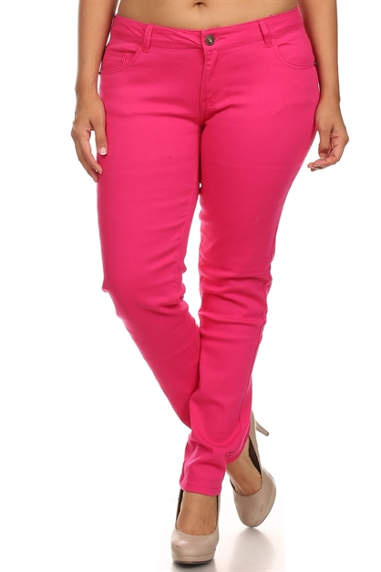 PLUS SIZE COTTON STRETCH JEANS - orangeshine.com