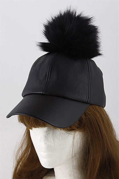 Faux Fur Leather Hat - orangeshine.com