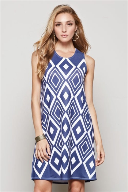 A-line print dress - orangeshine.com