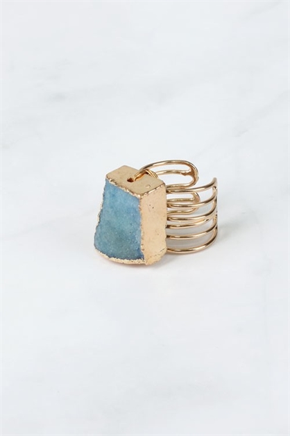 DRUZY WIRED ADJUSTABLE RING - orangeshine.com