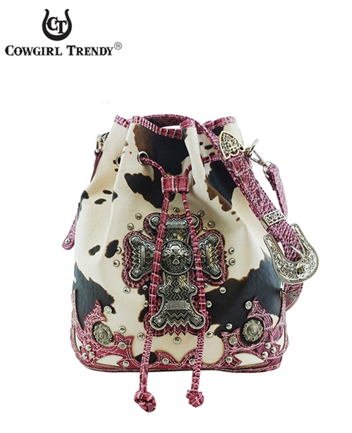 Cross with Cow Print Backpack - orangeshine.com