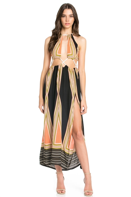 ROPE CONNECT MAXI DRESS - orangeshine.com