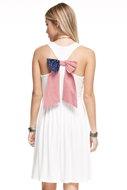 American Flag Tank Dress - orangeshine.com