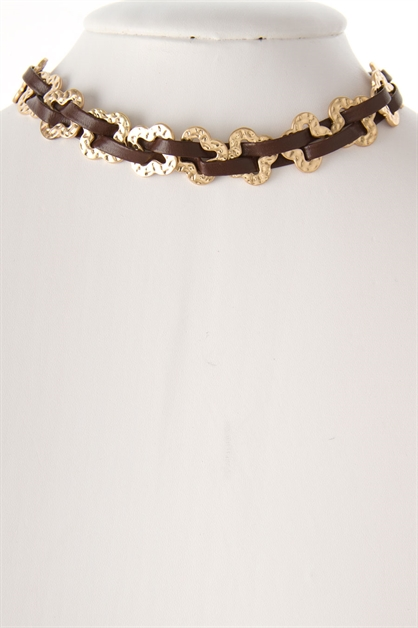 CLOVER LINK CHOKER NECKLACE - orangeshine.com