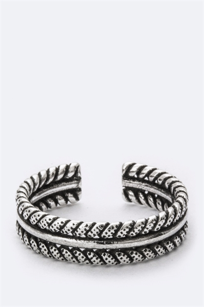 Sterling Silver Braiding Ring - orangeshine.com
