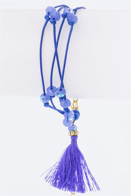 Layer Beads  Tassel Bracelet - orangeshine.com