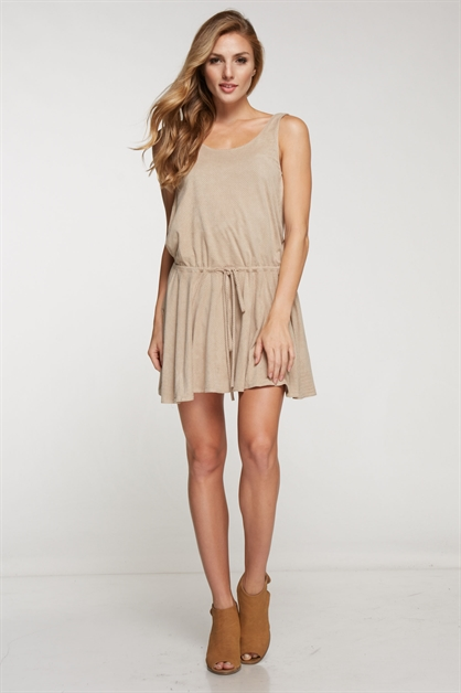 FAUX SUEDE DRESS - orangeshine.com