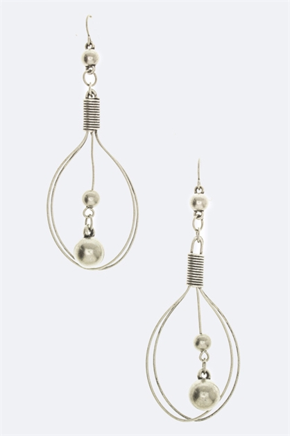 Dangling Bead Earring - orangeshine.com