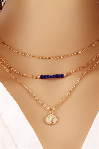 MultiLayer Gold Charm Necklace - orangeshine.com