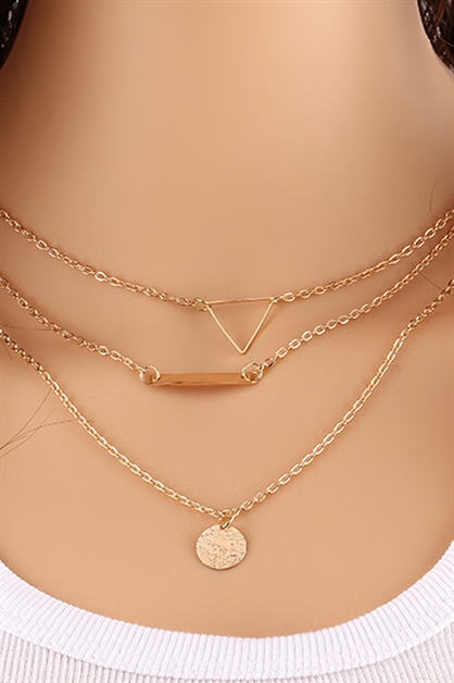 Multi Layer Charm Necklace - orangeshine.com