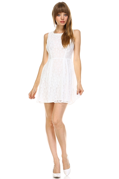 WHITE LACE DRESS - orangeshine.com