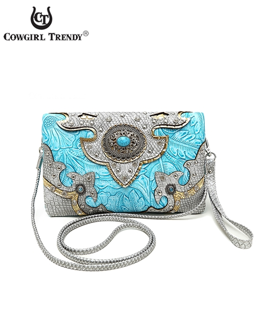 Western Conch Wallet Crossbody - orangeshine.com