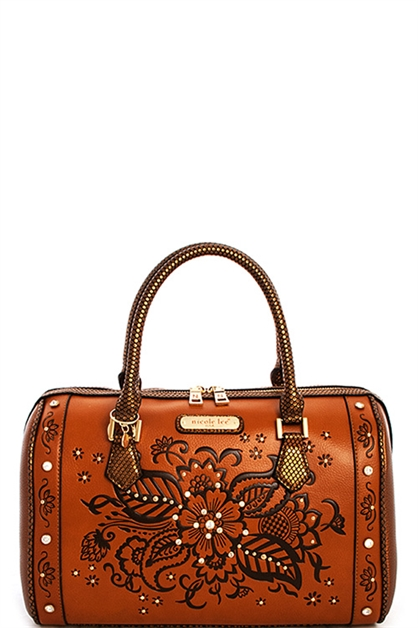 Nicole Lee Floral Boston Bag - orangeshine.com