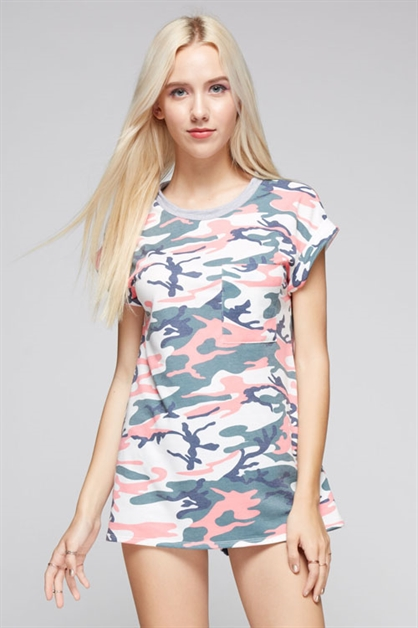 A french terry camouflage top - orangeshine.com