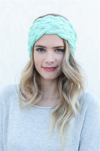 Braided Cable Knit Headband - orangeshine.com